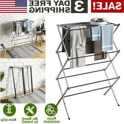 Oversize Large Folding Drying Rack Laundry Room Clothes Stor