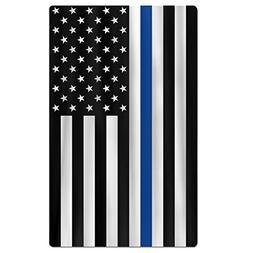FSKDOM Oversized Beach Towel - Support Police Thin Blue Line