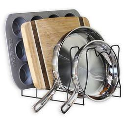 Pan Rack For Kitchen Baking Organizer Drying Pantry Cookware