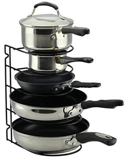 Pan Rack Organizer Holder for Kitchen Countertop Cabinet and