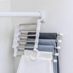 Pants Rack Trouser Ties Scarf Shawl Hangers Clothes Drying C