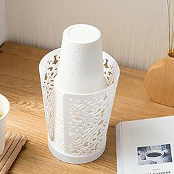 Paper cup storage bucket Disposable cup storage rack Put a c