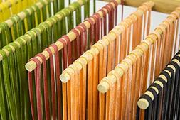 Bamboo Pasta Drying Rack Collapsible by aSmartLife Bamboo
