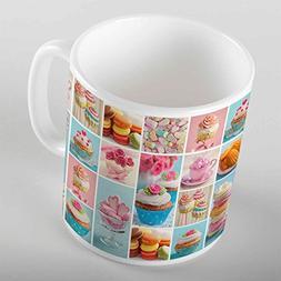 3D ELSE HALI Patchwork Cup Cakes Retro Porcelain Art Coffee