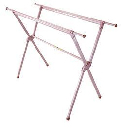 Drying Racks Pink Floorstanding Fold Indoor X Type Aluminum