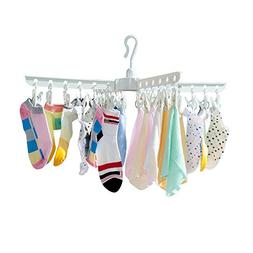 BAOYOUNI Plastic Clothespins Folding Clothes Drying Rack Lau
