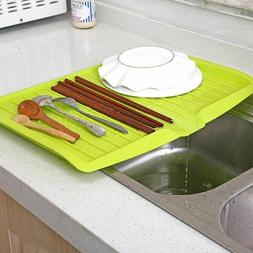 Plastic Dish Drainer Rack Kitchen Tray Large Sink Drying Rac
