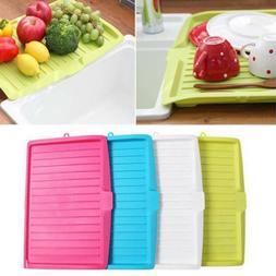 Plastic Drip Tray Dish Drainer Drain Board Kitchen Sink Dryi