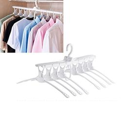 KIKIGOAL Plastic Clothes Hangers 8 in 1 Folding Space Saving