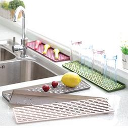 Plastic Small Kitchen Dish Drainer Tray Dish Drying Rack 2 T