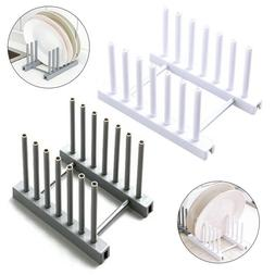 Plastic Kitchen Plate Cup Rack Pot Lid Holder Drying Storage
