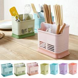 Plastic Kitchen Utensil Cutlery Rack Holder Chopsticks Spoon