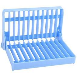 uxcell Plastic Restaurant Kitchen 12 Slots Folding Dish Dryi
