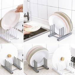 Plate Storage Rack Drainer Dish Drying Rack Organizer Stand