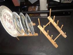 Plate Storage Rack Drainer Dish Drying Rack Organizer Stand