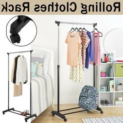Portable Adjustable Heavy Duty Clothes Rack Dry Hanger Close