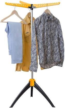Portable Clothes Drying Rack Foldable Tripod Garment Hanger