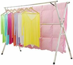 Portable Clothesline Drying Rack Line Indoor Outdoor Folding