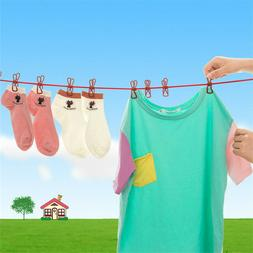 Portable Clothesline Hanger Drying Rack Clothes Hanging Rope