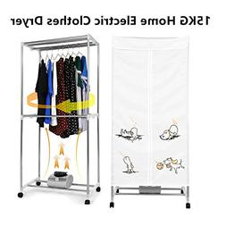 Fashine 1000W Portable Clothes Dryer Home Electric Clothes D
