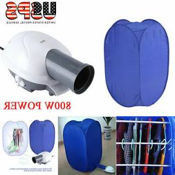 800W Portable Electric Air Heater Clothes Dryer Rack Folding