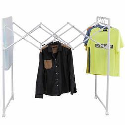 Portable Folding Drying rack Sheet Hanger Rolling Laundry Cl