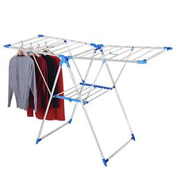 Portable Indoor Outdoor Folding Clothes Drying Rack, 2-Tier