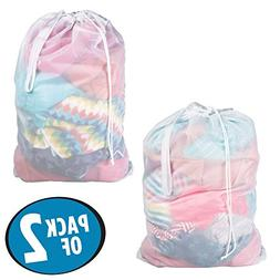 mDesign Portable Large Capacity Laundry Bag with Draw String