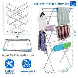 Portable Laundry Clothes Drying Rack 3 Tier Foldable Dryer H