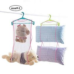 SYOOY 3PCS Portable Pillow Hanging Dryer Rack Doll Drying Ne