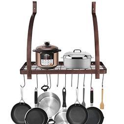 Pot Pan Rack, Home Kitchen Cooking Food Wall Mounted Floati