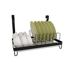 TLMY Free Punching Black Stainless Steel Kitchen Shelf Wall