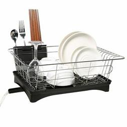 Dish Drying Rack, Dish Racks with Drain Board Utensil Holder