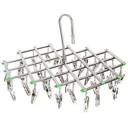 Rack Clothes Hanger Folding,KISENG 35 Pegs Clothes Home Hook
