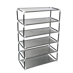 """uxcell Shoe Rack Tower, 6 Layers Holds 12 Pairs 33.9"""" Height"""