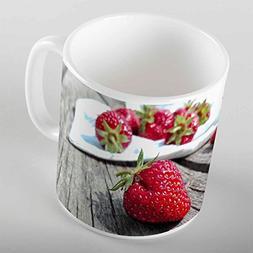Else Red Strawberry Porcelain Art Coffee Tea Mug Gold Chrysa