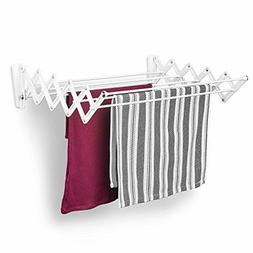 Retractable Wall Mount Clothes Drying Rack INDOOR Folding Ha