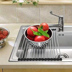 CHbaby-Home Roll up Dish Drying Rack Foldable Stainless Stee