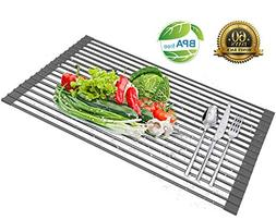 Roll Up Dish Drying Rack - Over the Kitchen Sink Large Silic