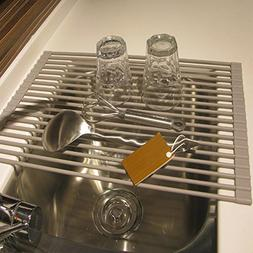 roll dish drying rack stainless