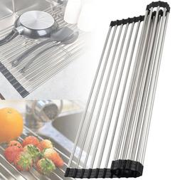 roll up dish drying rack flexible stainless