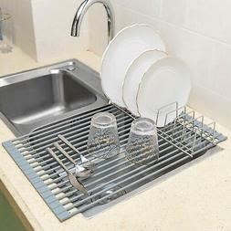 """iPEGTOP Roll-Up Dish Drying Rack X-Large 20.5"""" X 13"""" Over Th"""
