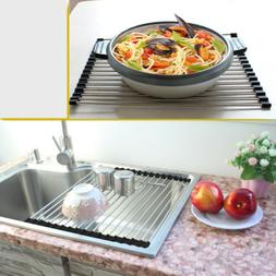 roll up stainless steel dish drying rack