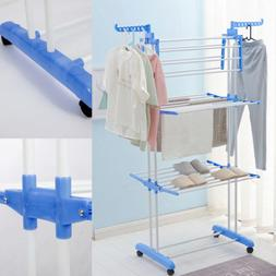3 Tier Fold Drying Heavy-Duty Clothes Rack Laundry Dryer Han