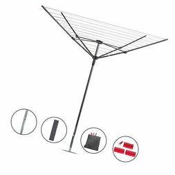STORAGE MANIAC Rotary Outdoor Umbrella Drying Rack   Collaps