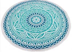 BALLBICK Round Printed 150Cm  Microfiber Tablecloth Wall Han