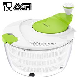 Salad Spinner LOVKITCHEN Large 4 Quarts Fruits and Vegetable