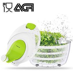 Salad Spinner Dryer, LOVKITCHEN Cooking Grips Salad Spinner