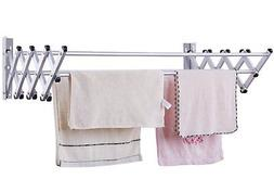 HAWATOUR Free Screw Foldable Drying Rack Collapsible Clothes