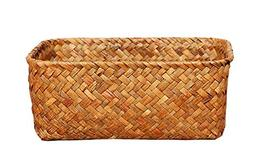 Seagrass Basket Weaved Rectangular Storage Cube Basket Organ